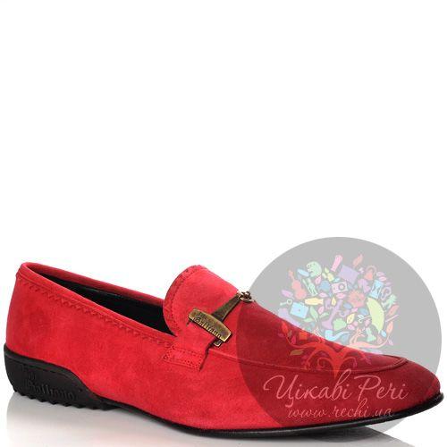 Лоферы John Galliano замшевые красные, фото