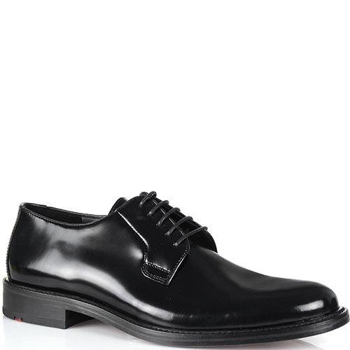 Туфли Lloyd из черной полированной кожи на уплотненной подошве, фото