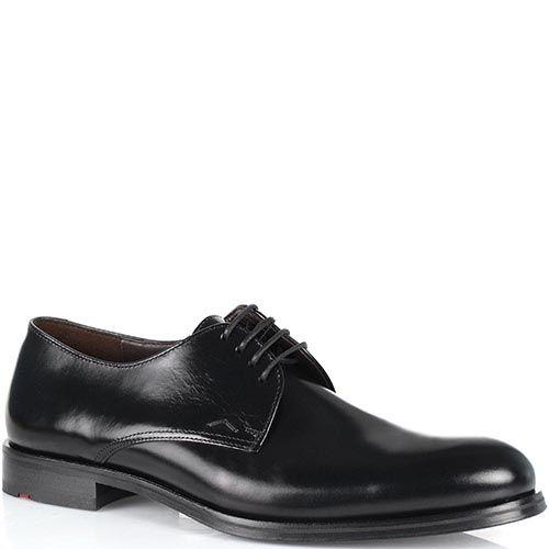 Мужские туфли Lloyd из черной полированной кожи, фото
