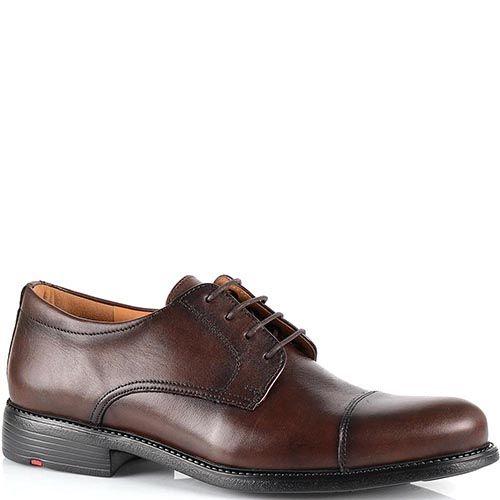 Туфли Lloyd из коричневой кожи с гранжевыми затемнениями, фото