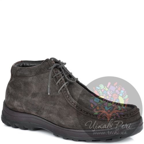 Ботинки Lumberjack коричневые замшевые с байковым утеплителем, фото