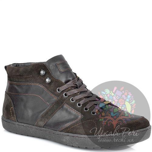Ботинки Lumberjack темно-коричневые из замши и кожи в спортивном стиле, фото