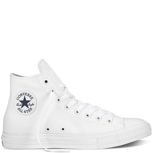 Мужские высокие кеды Converse белого цвета, фото