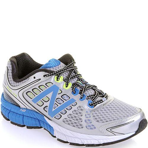 Беговые кроссовки New Balance 1260 серебристо-белые с голубым для гиперпронаторов, фото