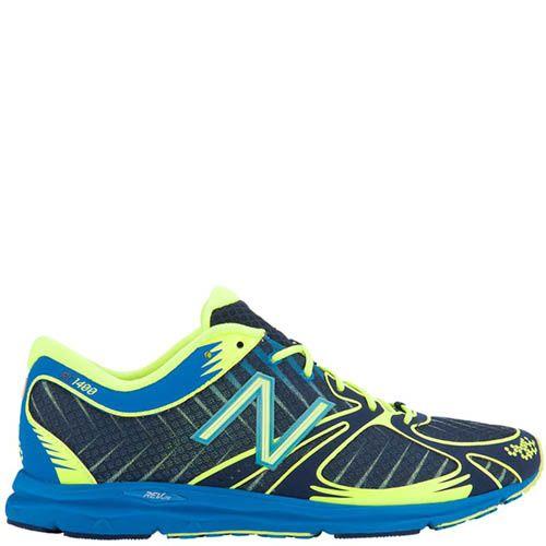 Кроссовки New Balance мужские 1400 для бега синий с ярко-желтым, фото