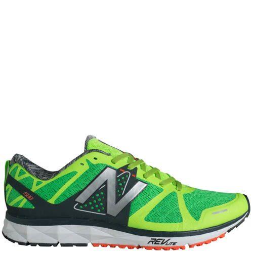 Кроссовки New Balance мужские 1500 для бега черные с ярко-зеленым, фото