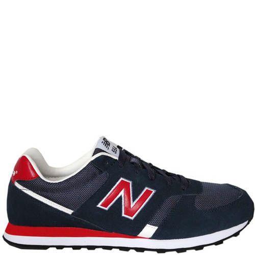 Кроссовки New Balance M554 мужские синие с красным, фото