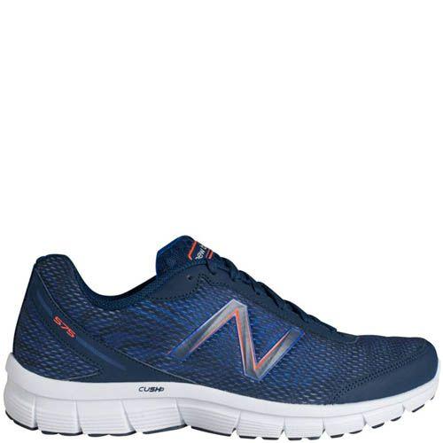 Кроссовки New Balance мужские Fitness Running синие с оранжевым, фото
