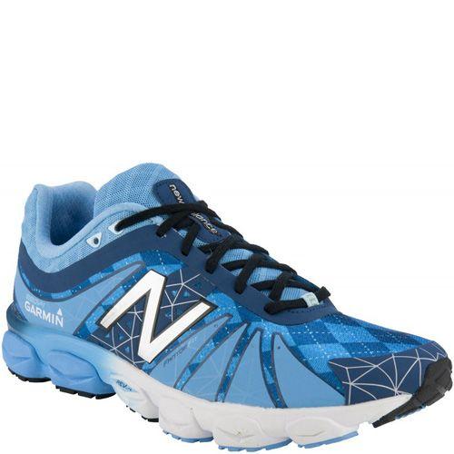Легкие беговые кроссовки New Balance Garmin 890v4 голубые с белым мужские, фото