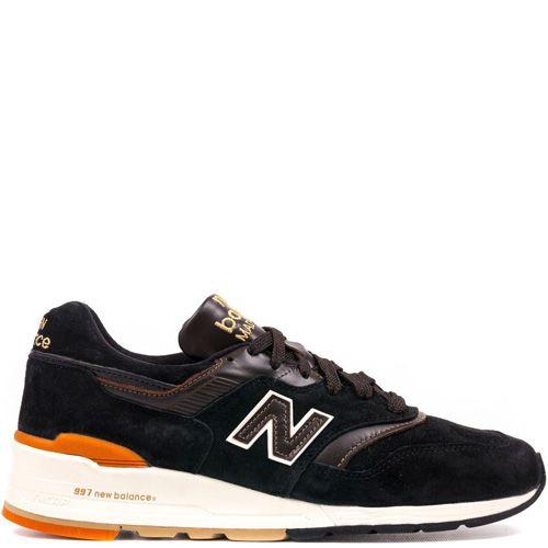 Мужские кроссовки New Balance Authors 997 из черной замши и коричневой кожи, фото