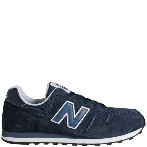 Кроссовки New Balance ML373 мужские темно-синие замшевые, фото