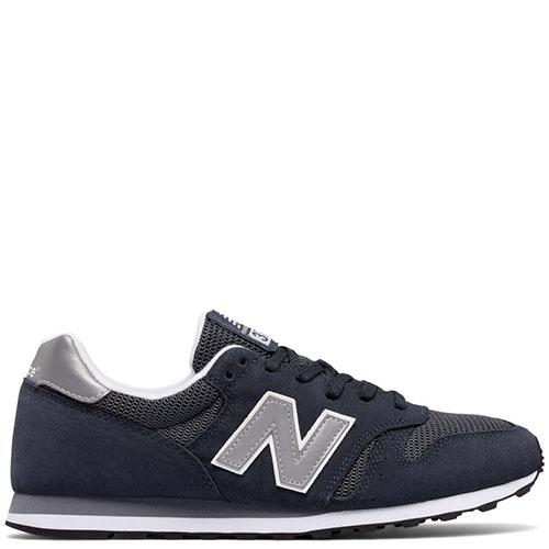 0774f899 Кроссовки мужские замшевые New Balance 373 серо-синего цвета, фото