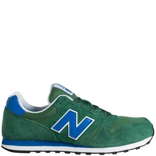 Кроссовки New Balance ML373 мужские зеленые замшевые, фото