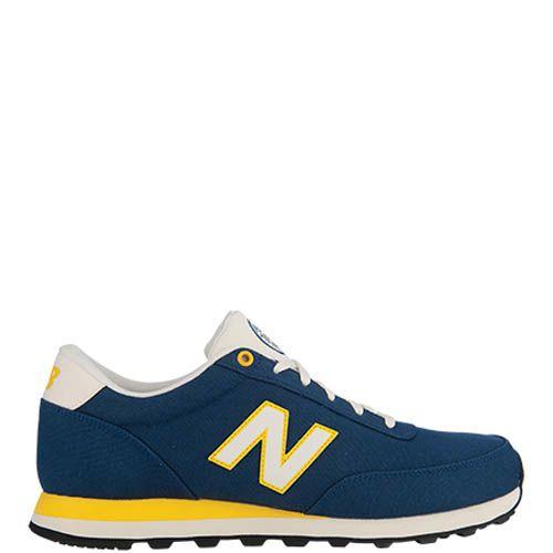 Кроссовки New Balance ML501B мужские темно-синие с желтыми вставками, фото