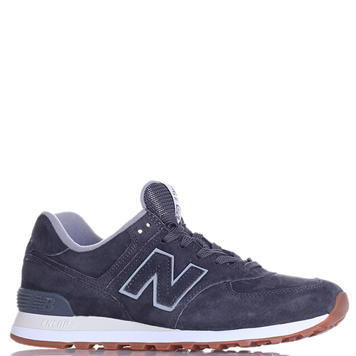 Замшевые кроссовки New Balance 574 серого цвета, фото