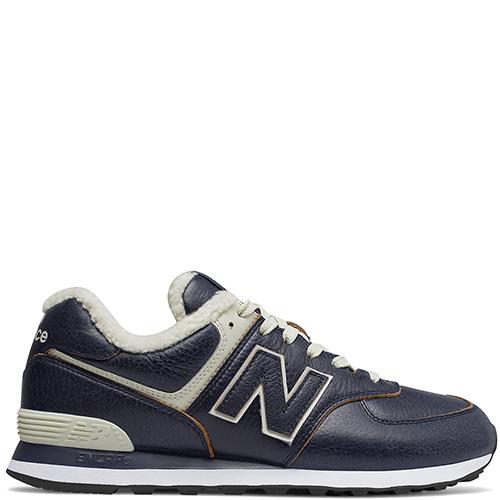 Утепленные кроссовки New Balance 574 синего цвета, фото