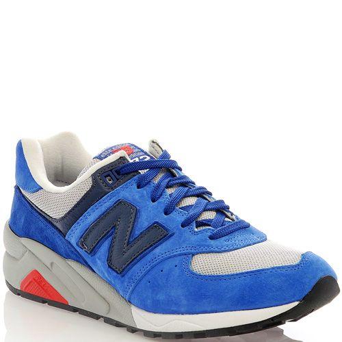 Замшевые кроссовки New Balance LifeStyle 572 ярко-голубые мужские, фото