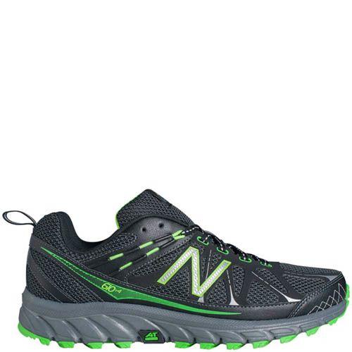Кроссовки New Balance MT610B из сетки черного цвета с добавлением ярко-зеленого, фото