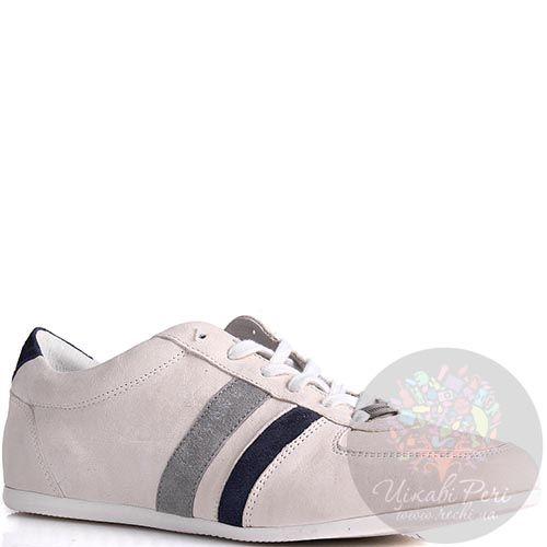 Кроссовки Richmond мужские замшевые белого цвета, фото