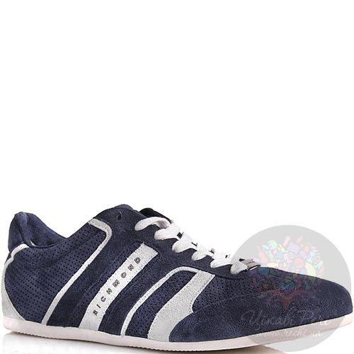 Кроссовки Richmond мужские синего цвета с белыми вставками, фото