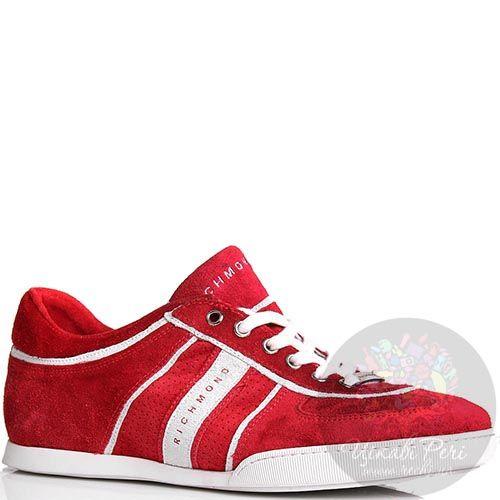 Кроссовки Richmond мужские красного цвета с белыми вставками, фото