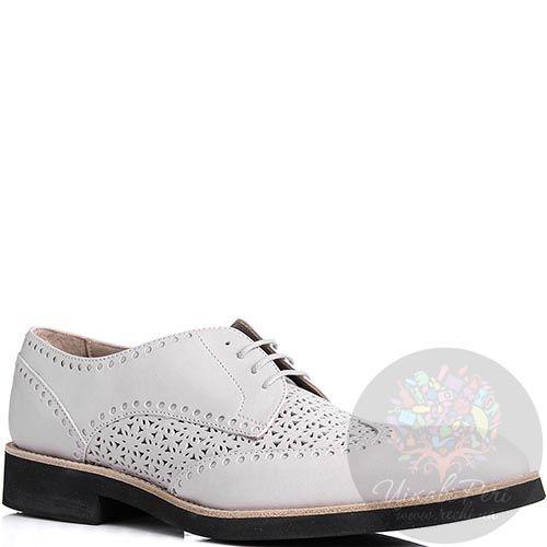 Туфли John Richmond белого цвета с перфорацией, фото