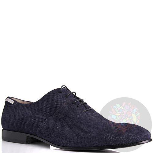 Туфли Alessandro Dell Acqua замшевые синего цвета, фото