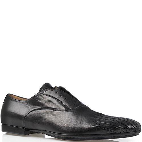Туфли Cesare Paciotti из гладкой кожи с перфорацией на носке, фото