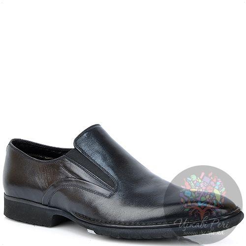Туфли Pakerson классические кожаные черные утепленные, фото