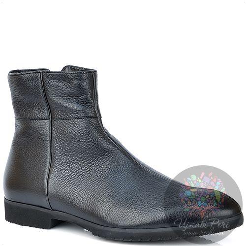 Ботинки Pakerson кожаные черные на меху с подошвой микропора, фото