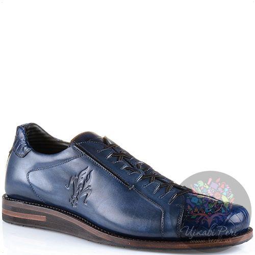 Туфли Pakerson Senator эксклюзивные кожаные темно-синие, фото