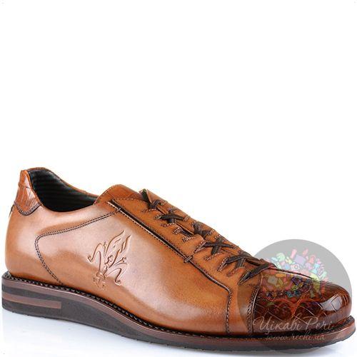 Туфли Pakerson Senator эксклюзивные кожаные коричнево-рыжие, фото