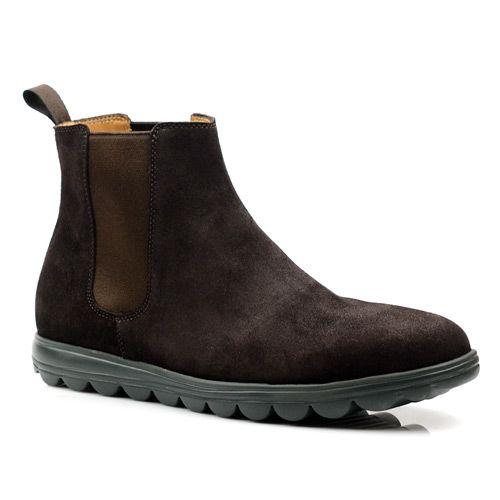 Мужские замшевые ботинки Pollini коричневые, фото