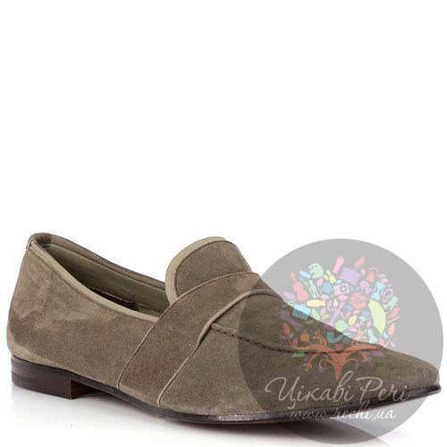 Туфли Prada из шикарной мягкой замши серого цвета, фото