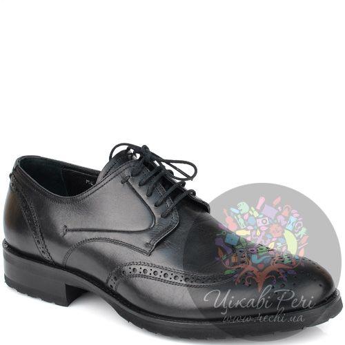 Туфли-броги Roberto Serpentini кожаные черные, фото