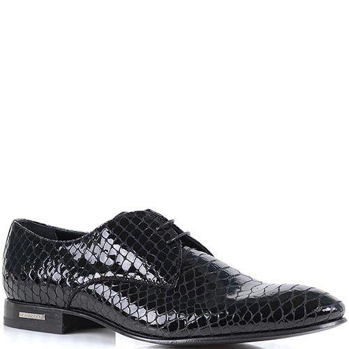 Мужские туфли Richmond из лаковой кожи с имитацией кожи рептилии, фото