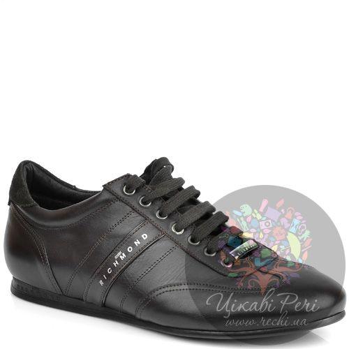 Кроссовки John Richmond кожаные темно-коричневые, фото