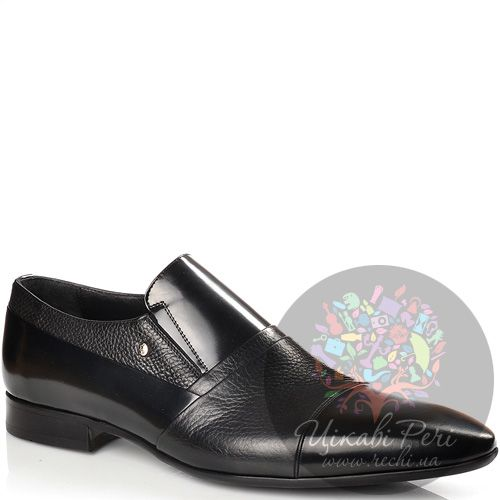 Туфли-слиперы Roberto Serpentini кожаные черные, фото