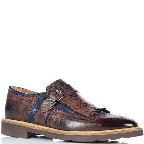 Кожаные туфли-броги Doucal's коричневого цвета, фото