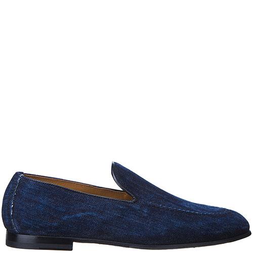 Джинсовые туфли-лоферы Doucal's синего цвета, фото