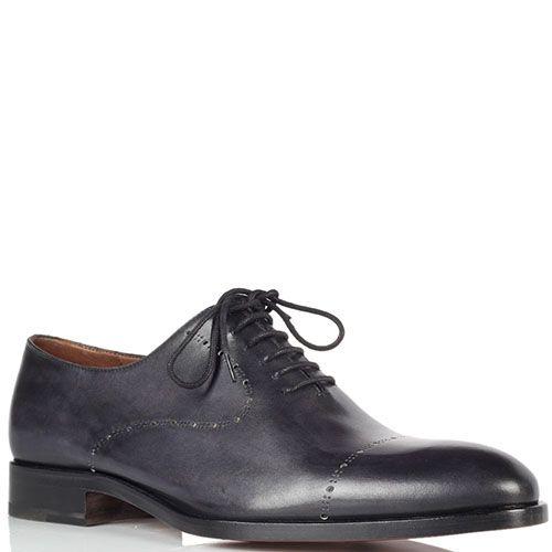 Туфли из перфорированной кожи Fratelli Rossetti черного цвета, фото