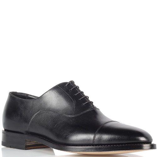 Классические мужские туфли Santoni черного цвета, фото