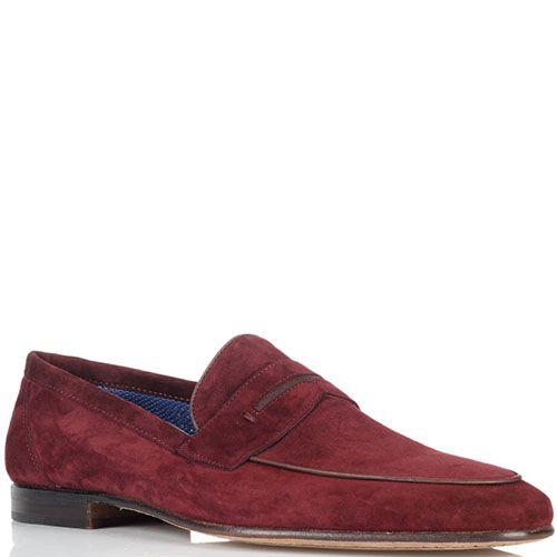 Туфли из замши Moreschi красного цвета, фото