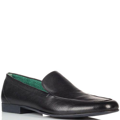 Черные кожаные туфли Fratelli Rossetti, фото