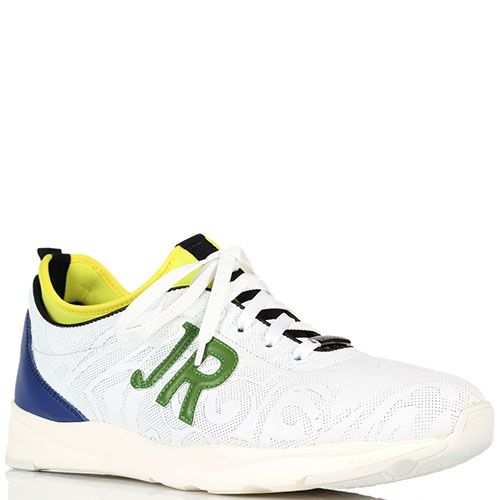 Белые кроссовки John Richmond с разноцветными вставками, фото