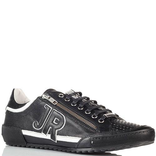 Мужские кроссовки John Richmond черные на белой подошве, фото