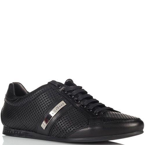 Кожаные мужские кроссовки John Richmond черные, фото