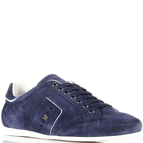 Синие замшевые кроссовки John Richmond с металлическим логотипом, фото