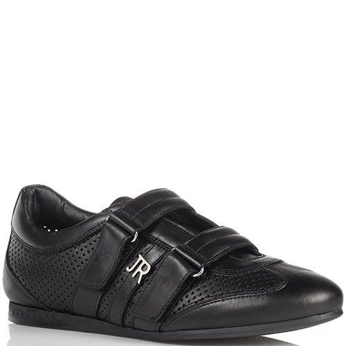 Черные кожаные кроссовки John Richmond на липучках, фото
