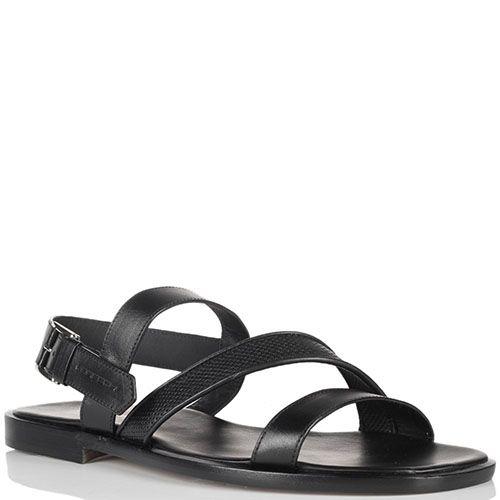 Кожаные черные сандалии Moreschi, фото